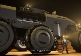 The Pioneers rover vehicle